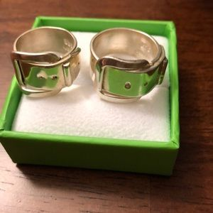 Jewelry - Sterling silver buckle ring